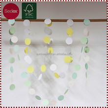 Colorful Round Garland Artificial Flower Garland for Room Decoration