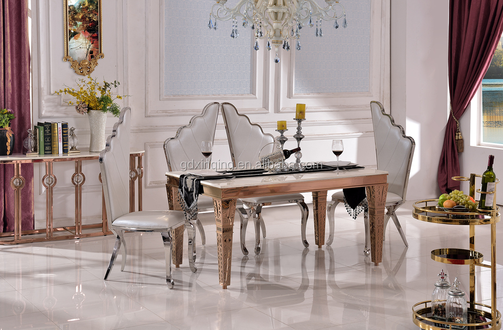 TH393 low price marble top dining room table