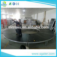 Outdoor event stage decorations used aluminum wooden stage for sale