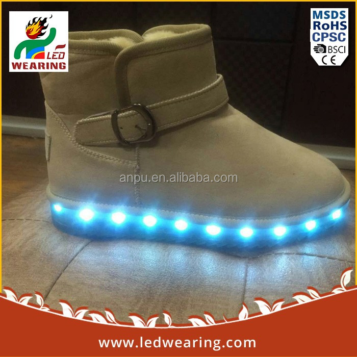 leather led sneakers canvas prints with led lights