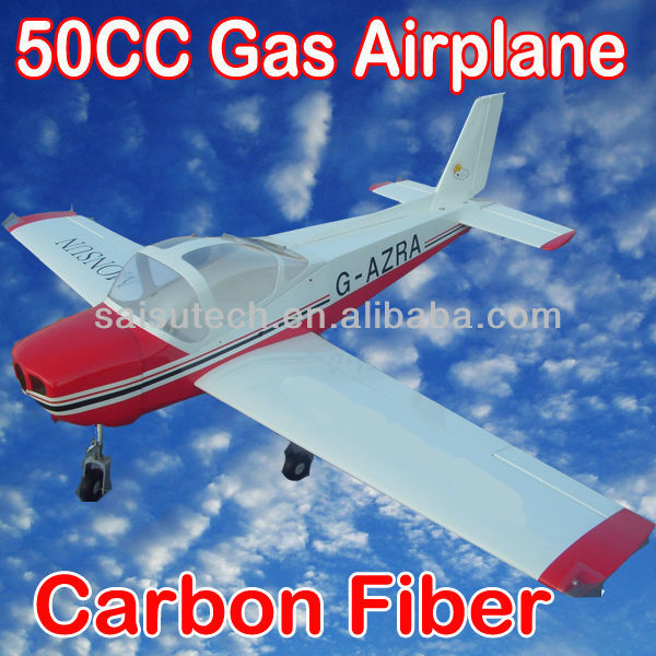 gas engine rc airplane 50 carbon fiber airplane model China OEM MONSUN 50CC
