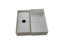 2015 wholesale high quality rectangle hot stamping white packaging gift box pen