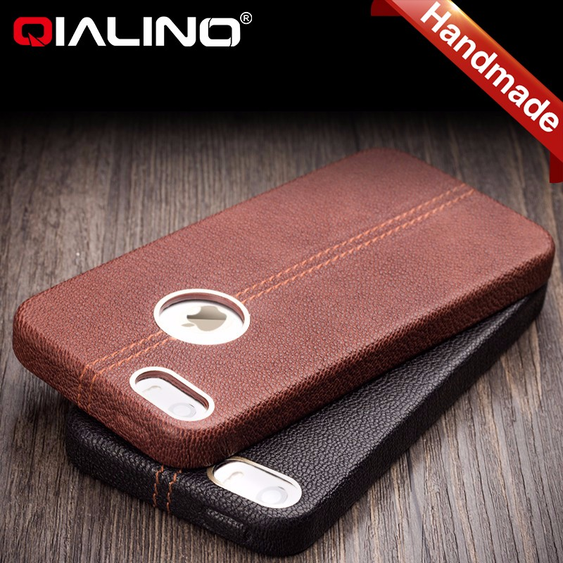For iPhone 5 case, premium genuine leather case for iPhone 5, luxury back cover for Apple iPhone 5S/SE leather case