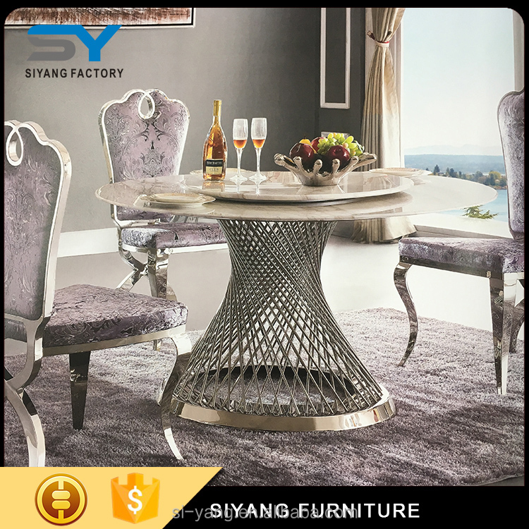 2017 family furniture dining table and chairs with high quality for sale CT007