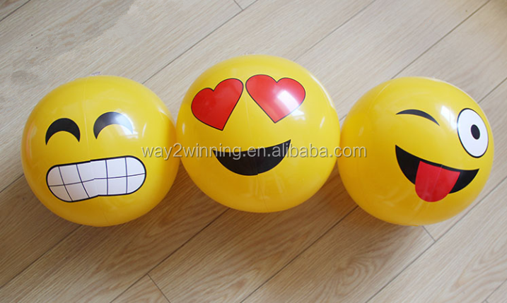 custom pvc inflatable emoji beach ball