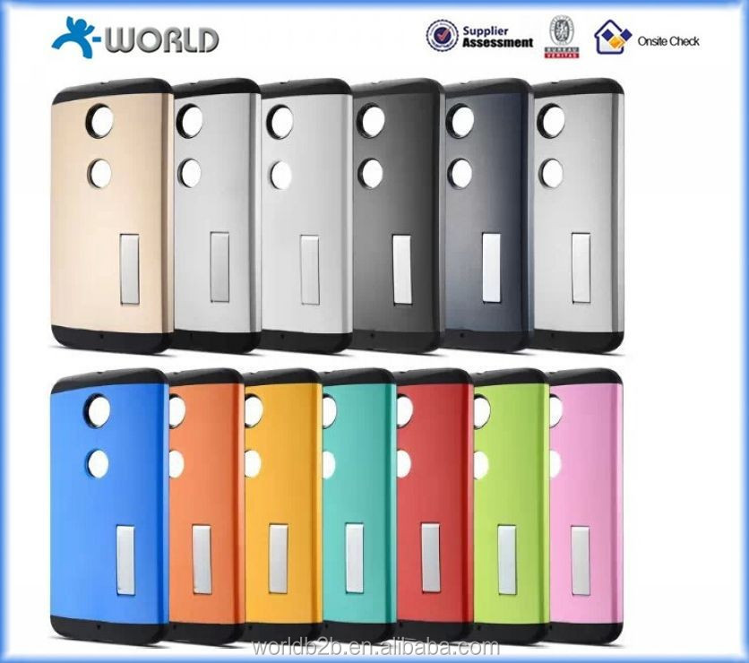 Slim Armor hybrid series Case for Google Nexus 6 with stand