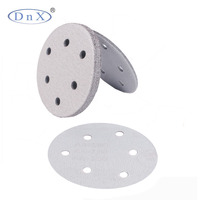 Abrasive tools aluminum oxide 6inch 6holes abrasive white sand paper for polishing metal
