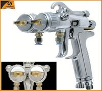 93 SHUNHE HVLP gravity type paint chrome double nozzle spray gun Mirror finish spray chrome machine for motorcycle