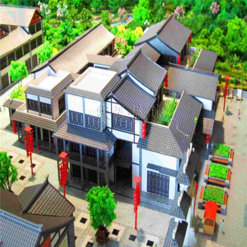 Handmade 3d model for tourism planning building wooden models
