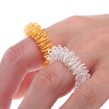 Acupuncture finger massager ring