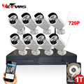 HD 8 Channel 720P Outdoor Night Vision IP Wireless CCTV Kit Security System