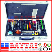 Well- equipped Fiber Optic Tool Kit (cable stipper; knife; scissor plier...)