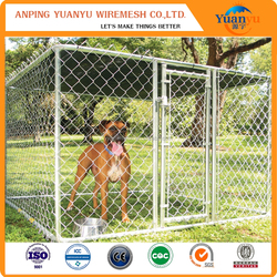 PVC coated chain link dog kennel made in china factory