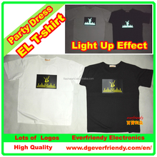 EL Flashing T-shirt Luminous Clothes For Night Club Concert Wear in EL products EF02