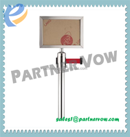 2015 China new products queue barrier post with Sign Frame sign holder