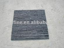 Black quartzite broken finishing wall ledger stone