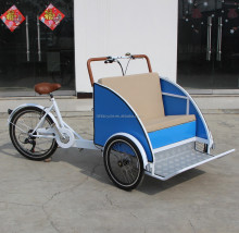 man-power pedal pedicab rickshaw cargo bike tricycle for passenger or old people