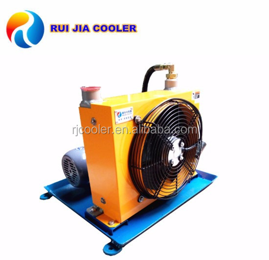 Industrial air cooled oil coolers system with pump motor unit