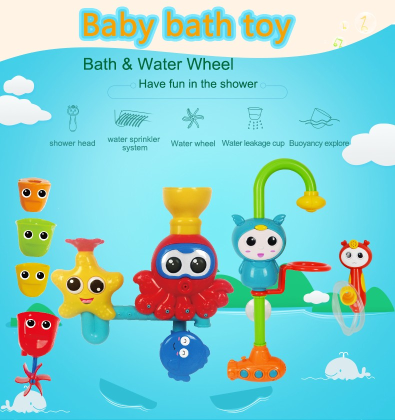 cheap educational octopus bath toys for 5 year olds