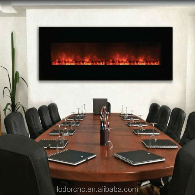 72 inch modern decorative wall mounted electric fireplace
