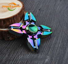 Wholesale Permainan Hand spinner metal spinner toy fidget Flying spinner