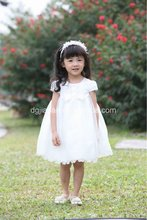 2014 new fashion cute bow little girl summer dresses korean style