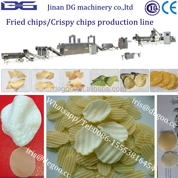 Fried potato crispy chips /waved chips extruder machine from Jinan DG machinery company