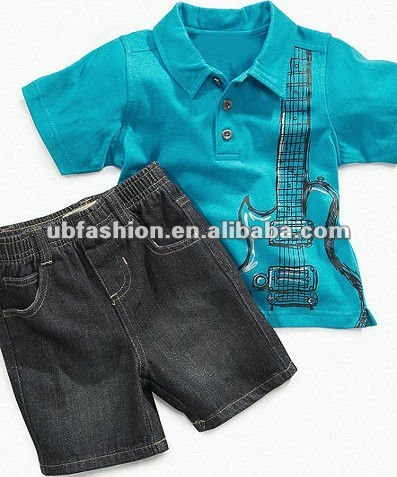 Truck polo and jean short boys clothing