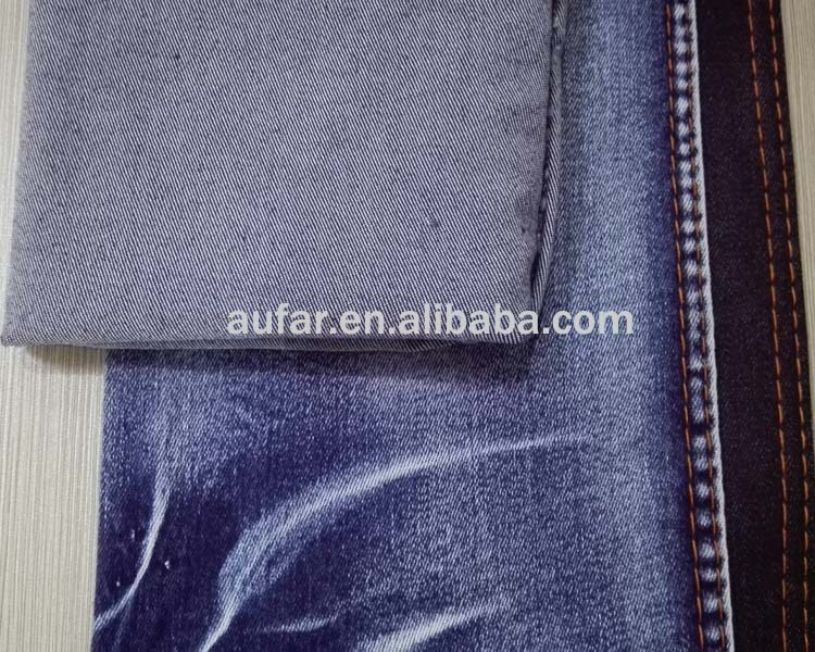 dots design flock printing denim fabric cotton denim fabirc for jeans