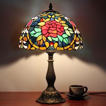 "Glass handmade 12"" tiffany antique style table lamp for your home decoration"