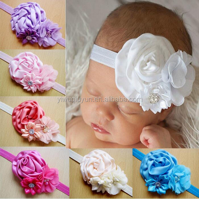 2016 fashion girls cheer bows hair accessories unique fashion baby knotted headbands with rhinestones