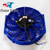 Car condenser fan 12'' 12V PULL 80W blue color