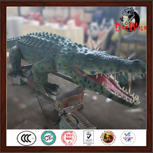 Dino1030 high simulation remote control life size animatronic crocodile