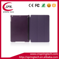 super slim auto sleep wake Magnet Smart case cover for ipad mini 1/2/3 leather case purple color Plastic protective