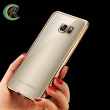Ultra thin for galaxy s7 silicon case for galaxy S6 edge soft plating bumper tpu mobile phone back cover case shell
