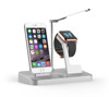4 in 1 MFi 48W Aluminum Power Docking Station with Lamp for iPhone Apple Watch Stand and Extra Dual USB Port