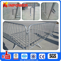 removable steel safety barriers / portable metal road safety barriers