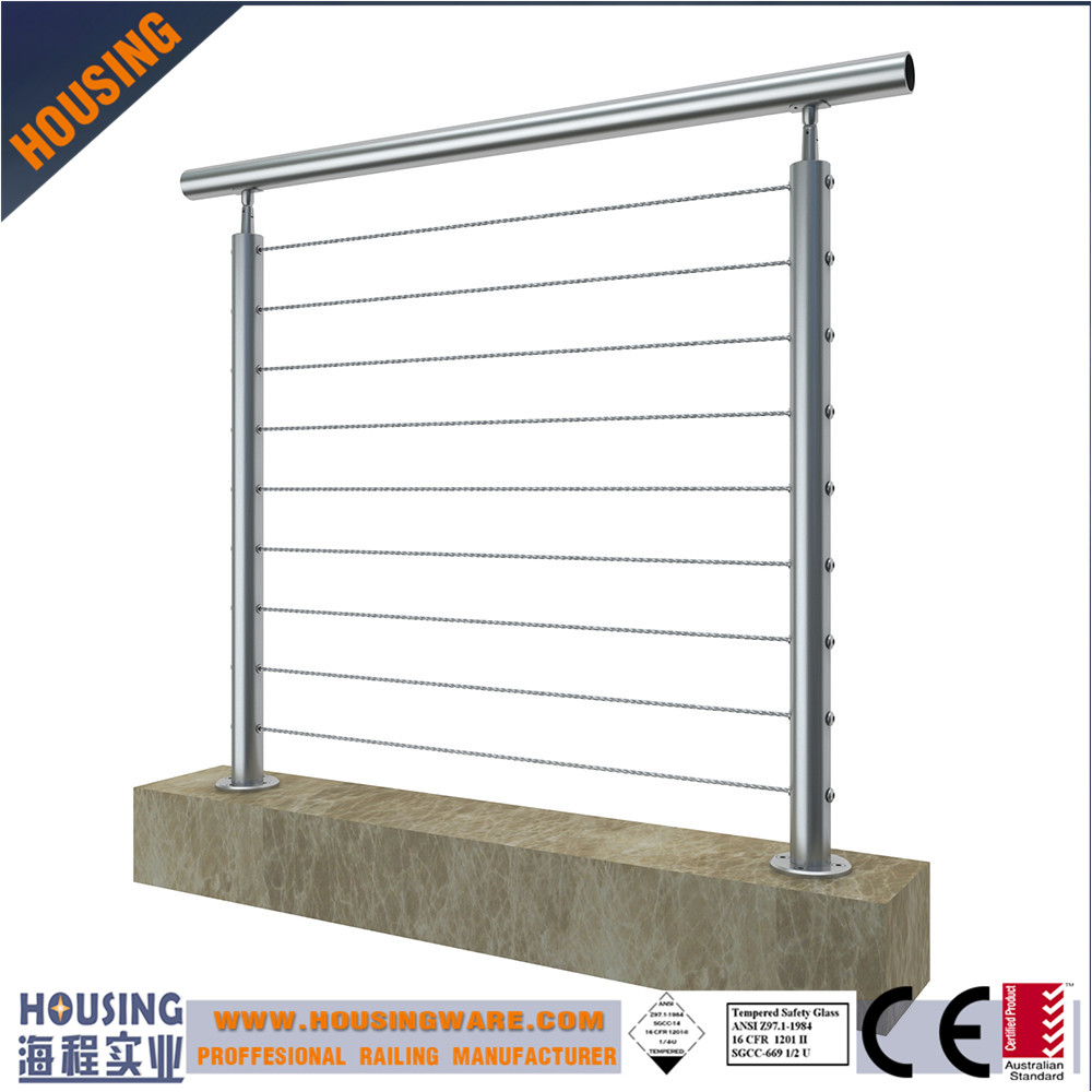 stainless steel cable railing_easy install cable rail system_cable rail posts