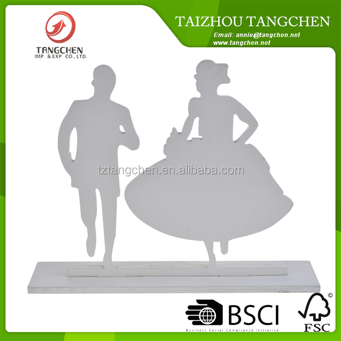 Romantic Funny Wedding Figurine, Bride and Groom Marriage Table Decoration