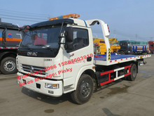 China Good Price Dongfeng Wrecker Truck with Flatbed Road Removal, 4Tons Wrecker Towing Trucks For Sale