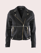 leather fashion jacket for women