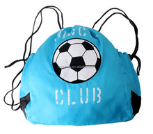 High Quality Customized Logo Nylon Drawstring Shopping Bag,Students Soccer Sports Backpack Bags