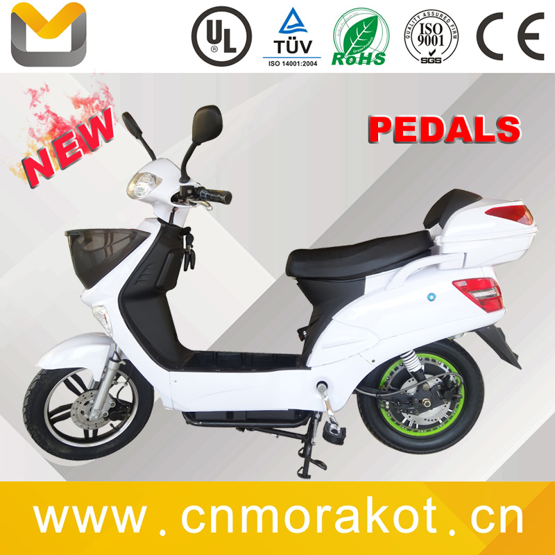 1000W LCD display e scooter 2 wheel electric scooter with pedals and front basket ---LS3