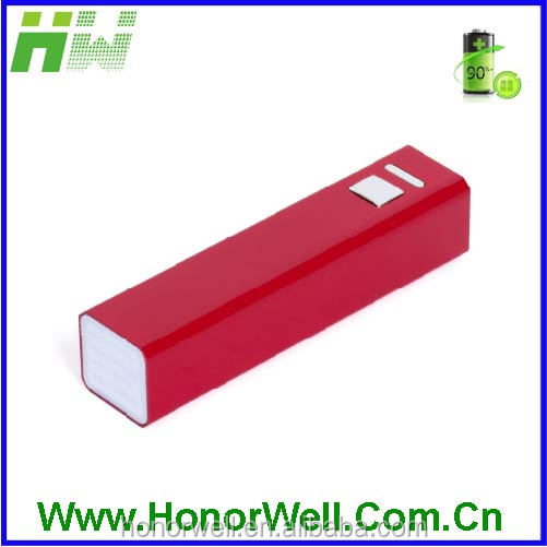 New Power Bank Mini Portable metal Power Bank 2600mAh for Cell Phones HW-PB-006