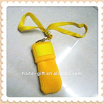 HT gift -- Promotional mobile phone sock with lanyard for kids