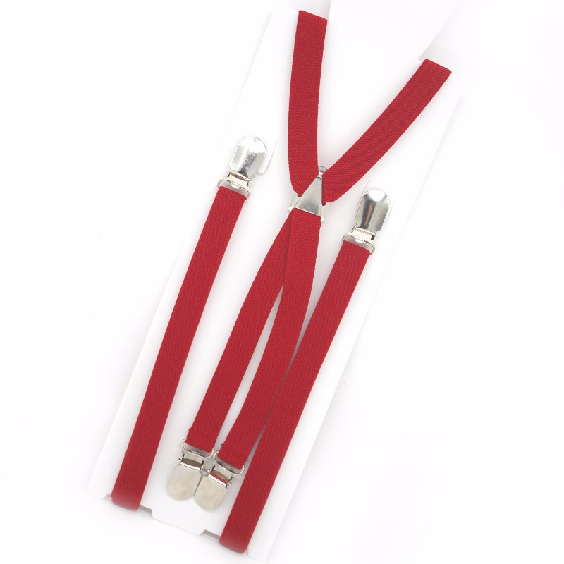 15XT4J01-13 Boys red suspenders for pants