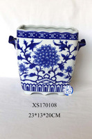 high quality chinese style home decoration blue and white porcelain vase .