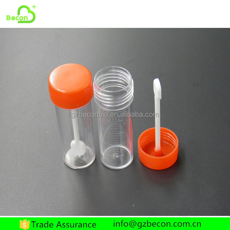 PP Plastic Medical Sterilization Stool Container with Spoon