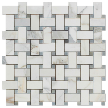 Calacatta marble mosaic tile for marble mosaic floor and wall with low price