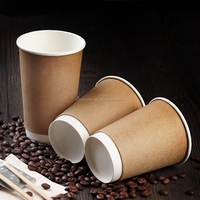 8oz Double Wall Custom Printed Disposable Paper Coffee Cup